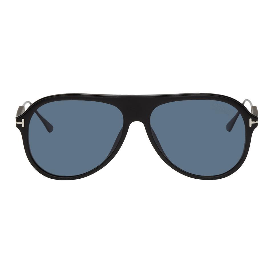 1ebaa7d2fbf Lyst - Tom Ford Black Nicholai-02 Sunglasses in Black for Men