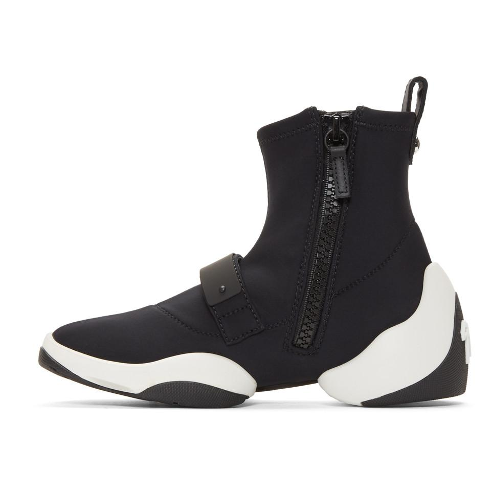 Stretch Sneakers in Black Carlito Stretch Fabric Giuseppe Zanotti rdXBwu