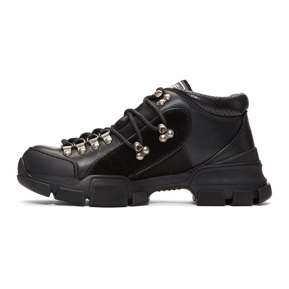 Gucci Black Flashtrek High-top Sneakers in Black for Men - Lyst 6ed8378310