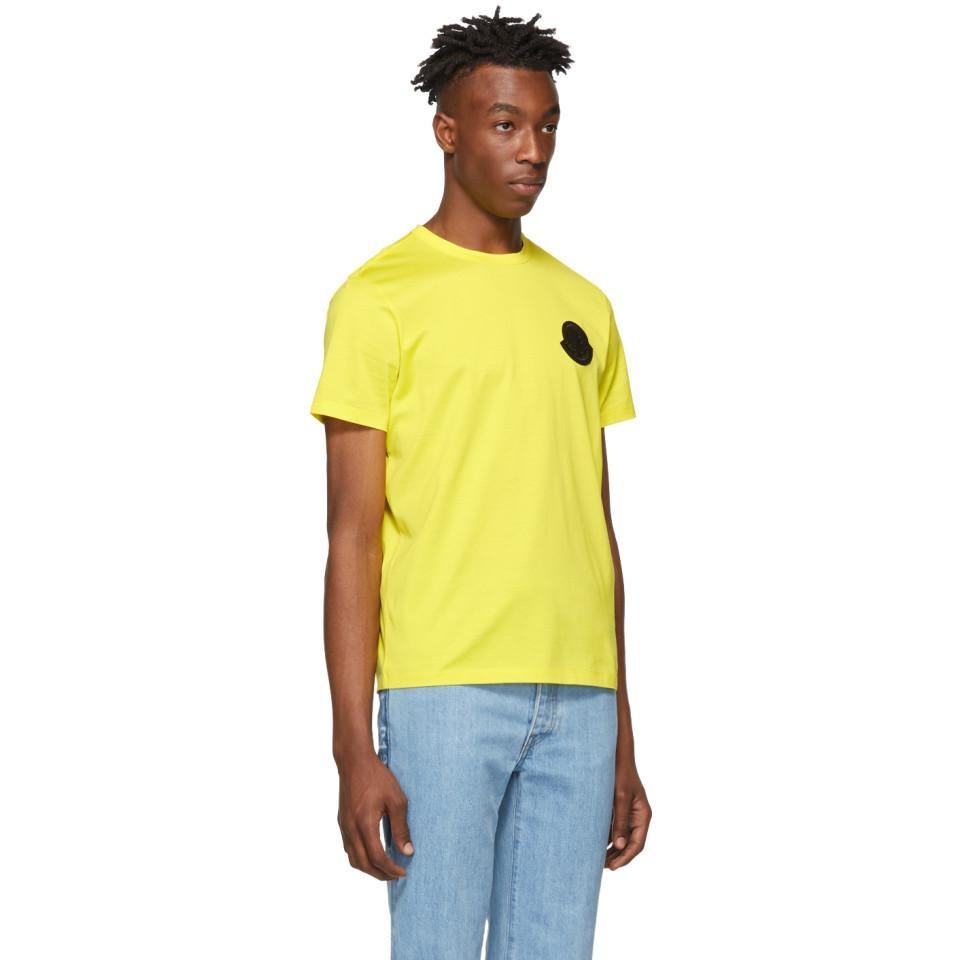 95d4b3b6 Moncler Genius 2 Moncler 1952 Yellow Logo T-shirt in Yellow for Men ...