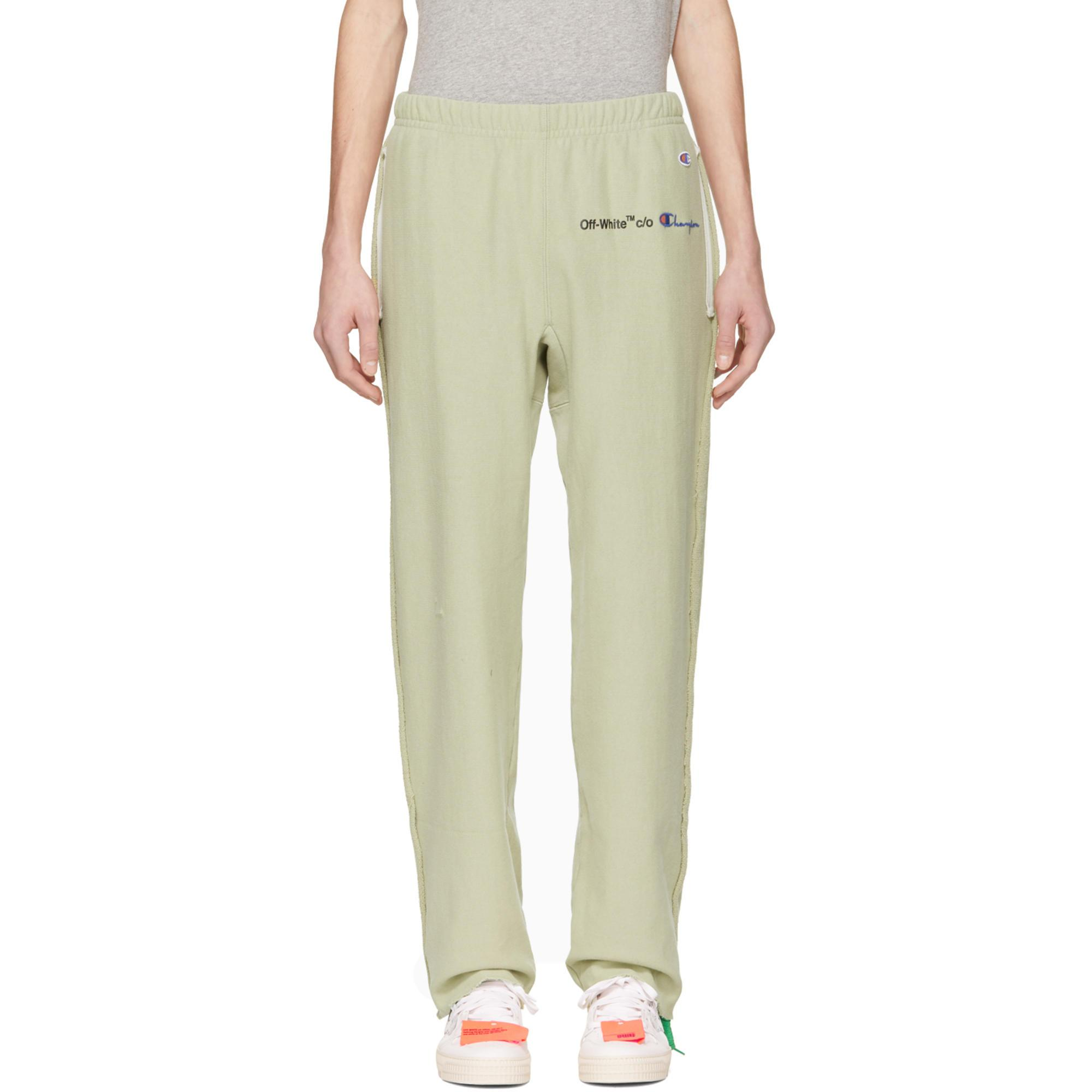 0d9dee00ac5a9c Off-White c/o Virgil Abloh Green Champion Edition Sweatpants in ...