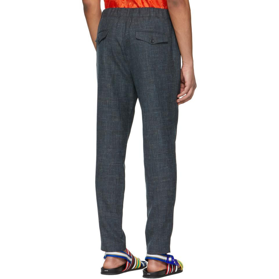 Stella McCartney Grey Wool And Linen Piet Trousers in Grey for Men