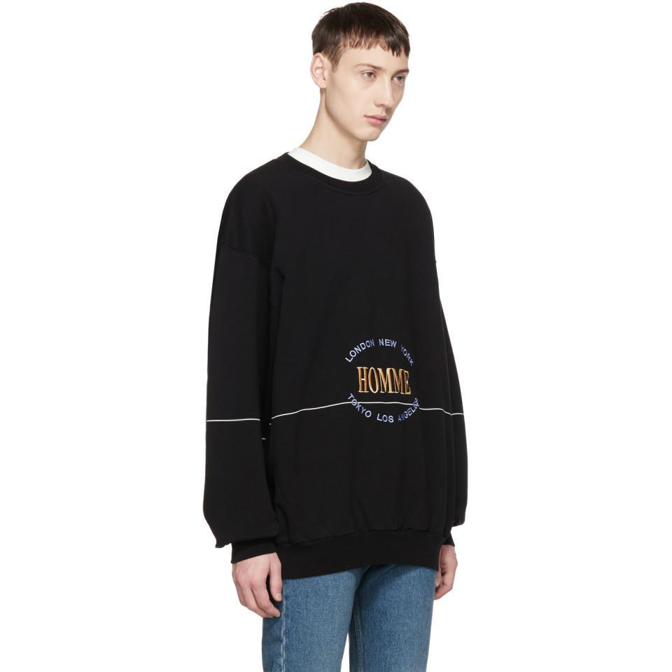 regard détaillé 4f647 5e74a Balenciaga Black Oversized Homme City Sweatshirt for men