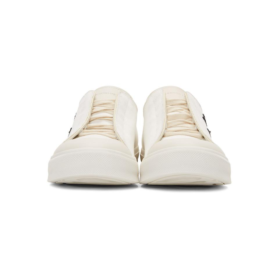 Alexander McQueen Canvas Off-white Peacock Sneakers