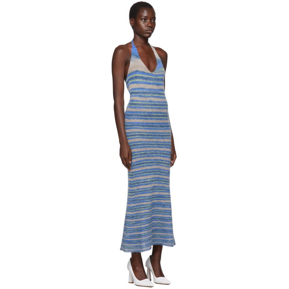 Robe bleue La Robe Tropea Longue Jacquemus en coloris Bleu