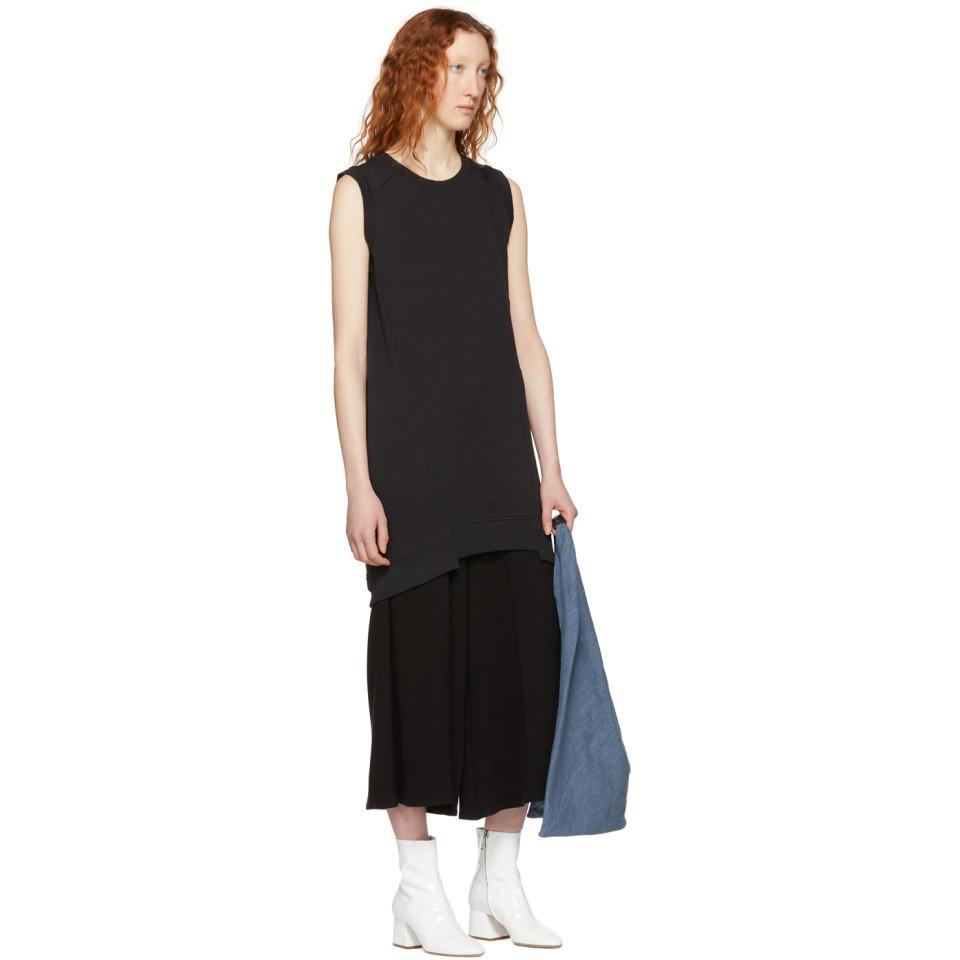 Black Sleeveless Sweatshirt Dress Maison Martin Margiela vDcezsIQo