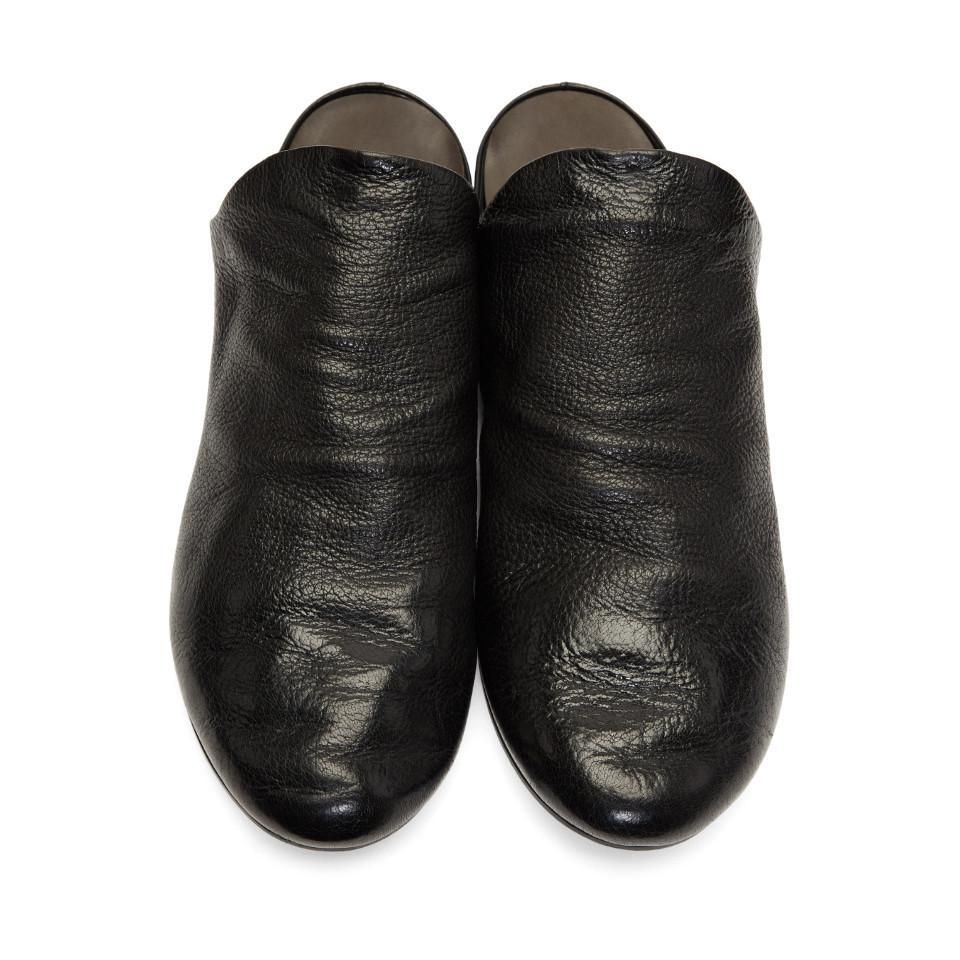 Black Strapiatta Open Back Loafers Mars azpH10