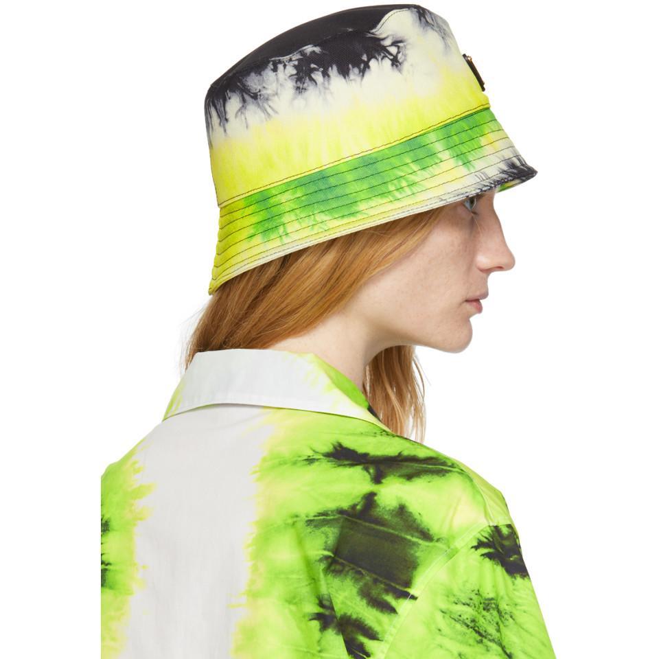 541378f5ad Prada Green Tie Dye Bucket Hat