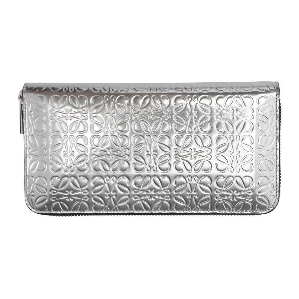 Silver Anagram Zip Around Wallet Loewe wjwsOqsy