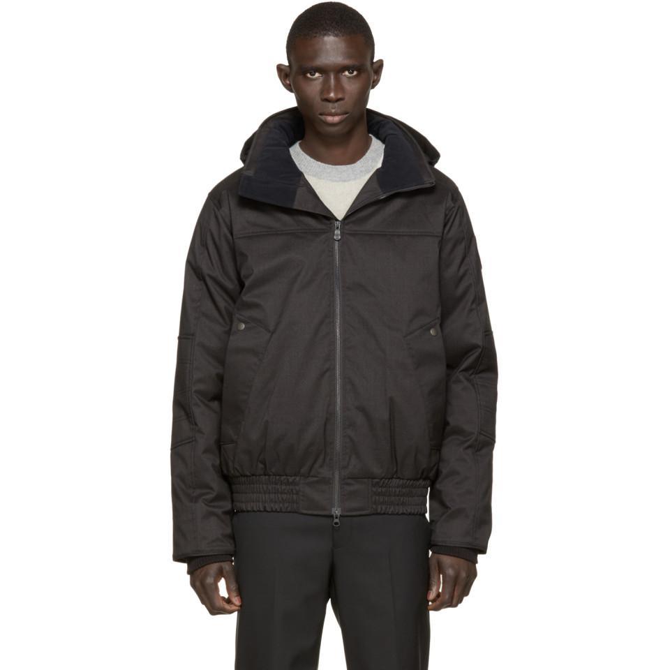 Manteau aviateur en duvet noir Black Label Rossland Canada Goose pour homme