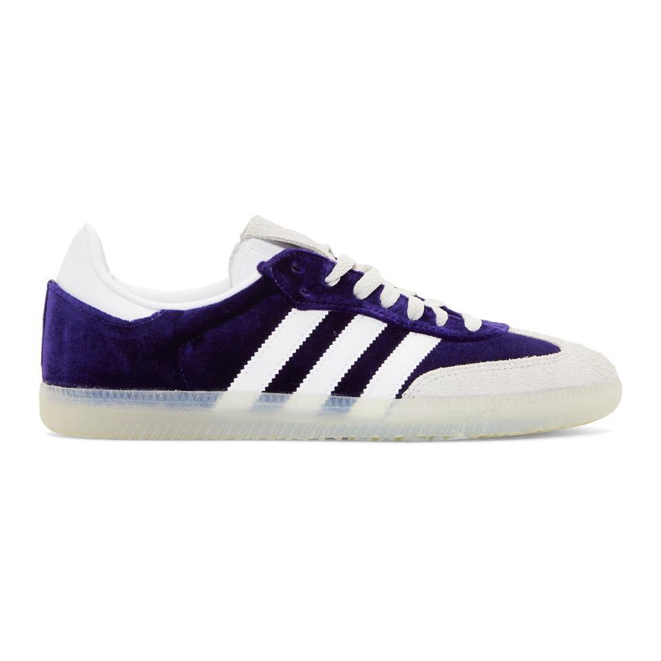 For Adidas Lyst Velvet In Samba Blue Originals Og Sneakers Men Purple 6bfg7y