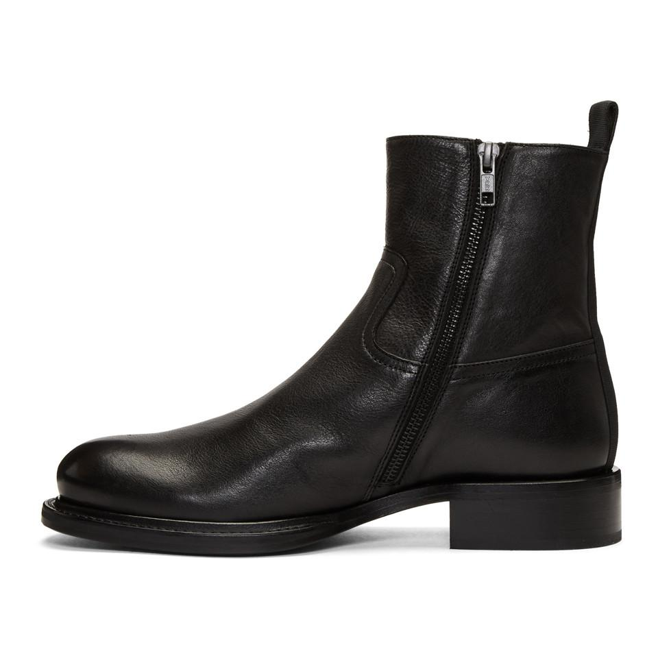 Ann Demeulemeester Leather Black Canyon