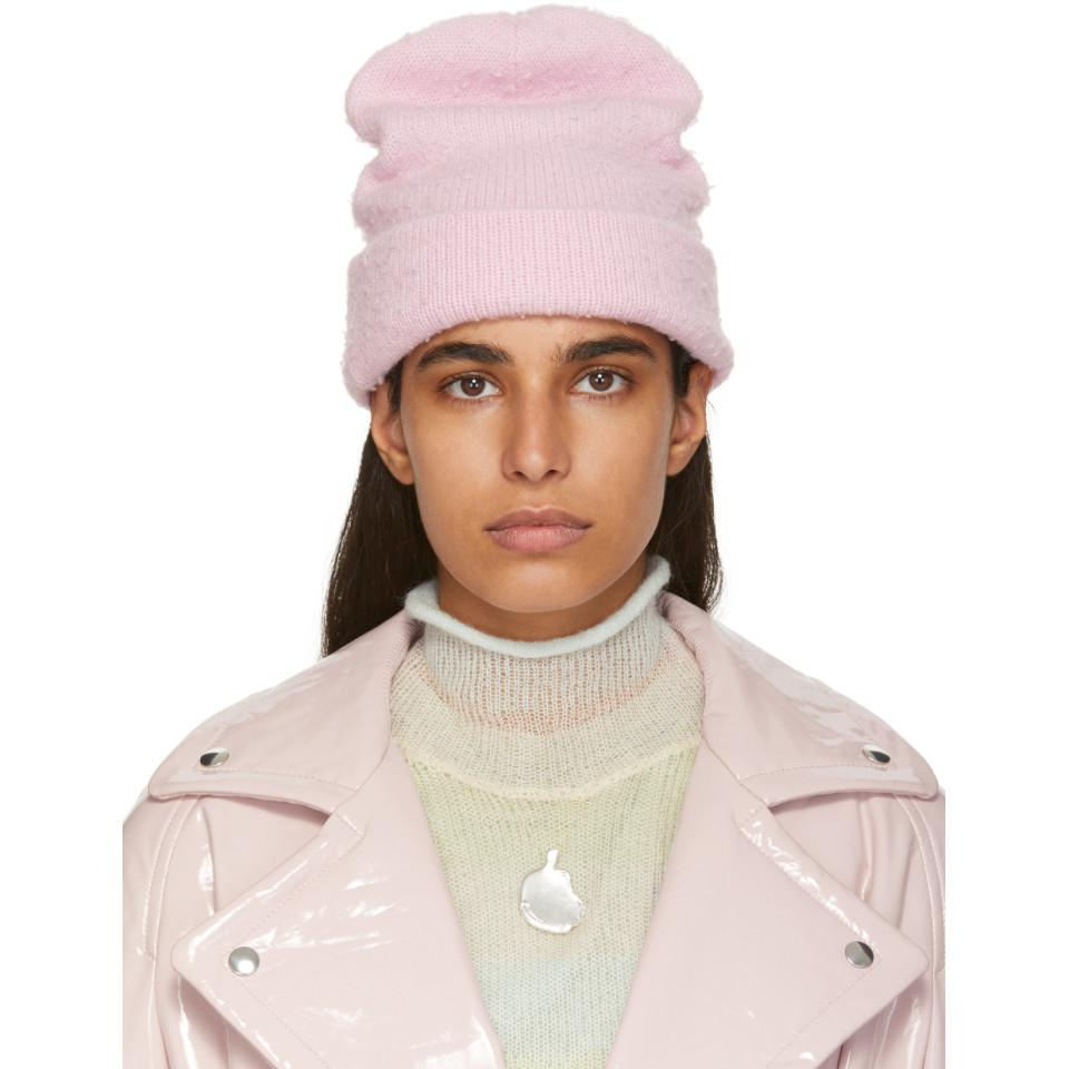aca4414a803 Acne Studios. Women s Pink Wool And Cashmere Beanie