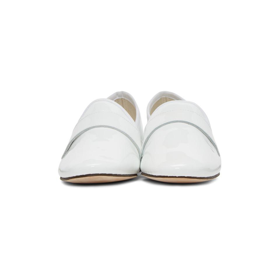 4e736fc6ecc72 Repetto White Patent Michael Loafers in White - Lyst