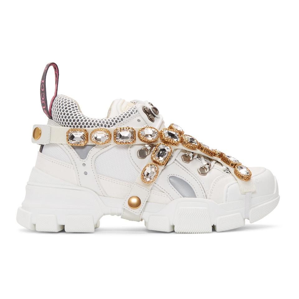 Gucci Leather Flashtrek Embellished
