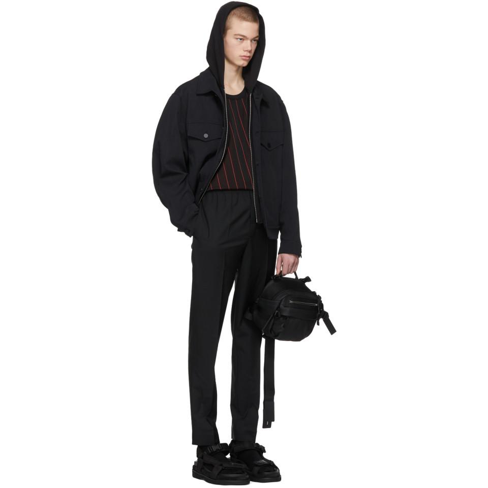 Alexander Wang Leather Black Ezra Crossbody Hike Bag for Men