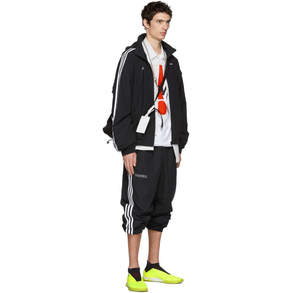 Gosha Rubchinskiy Satin Black Adidas Originals Edition Hooded Jacket for Men