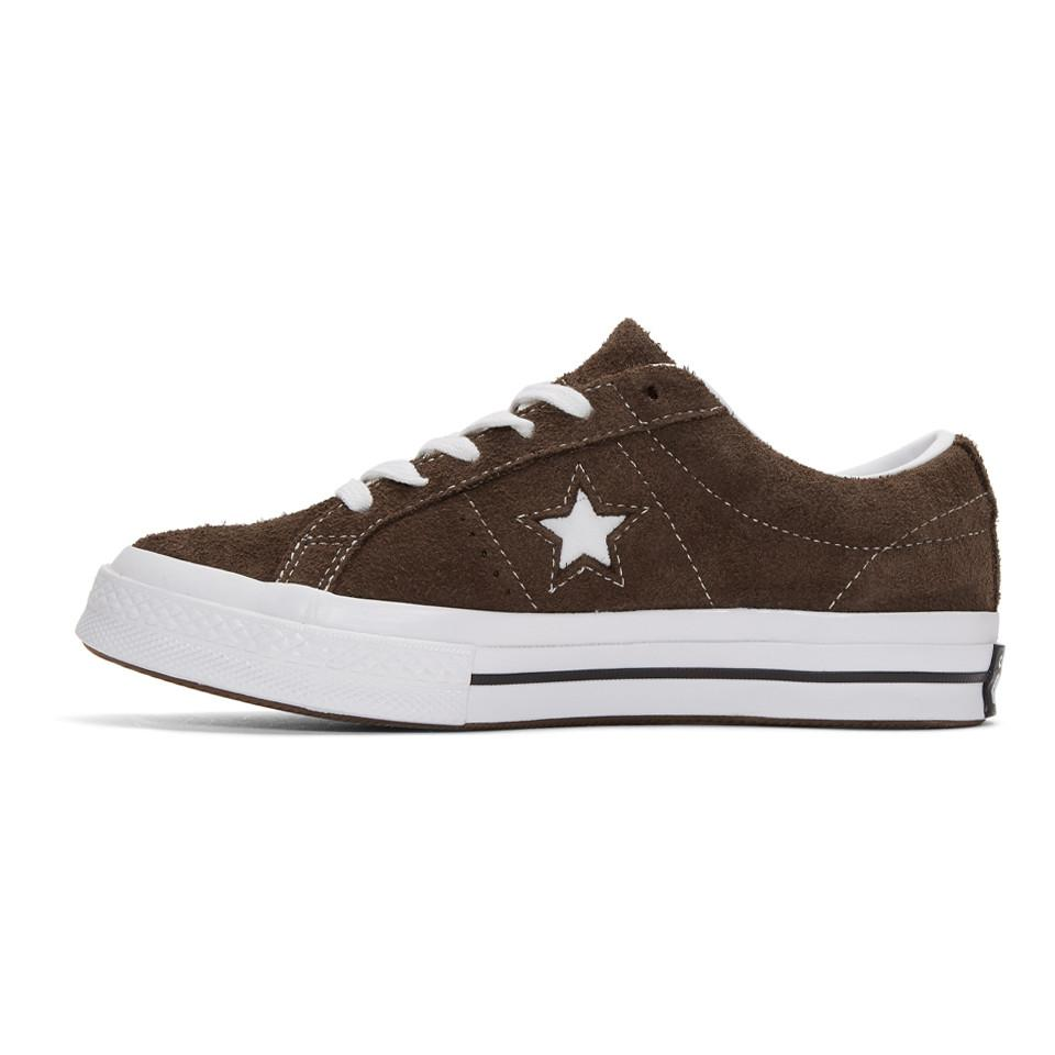 Converse Brown Suede One Star Sneakers for Men - Lyst
