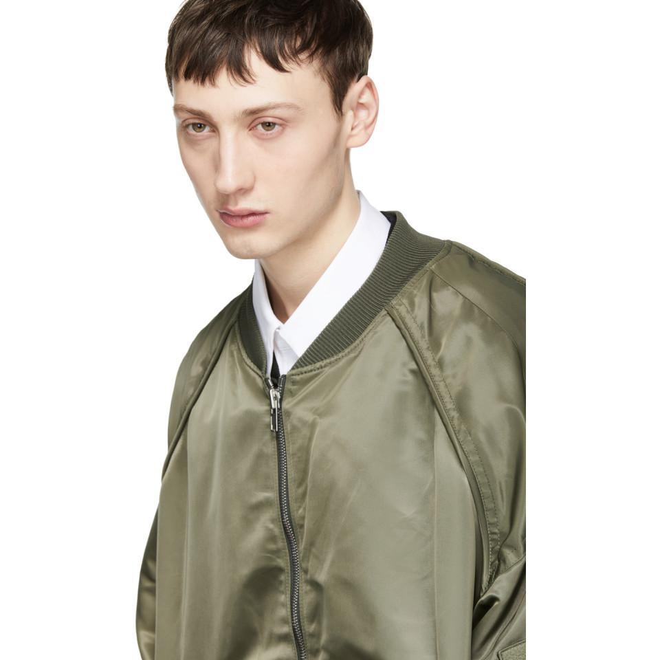 Juun.J Synthetic Khaki Detached Bomber Jacket in Green for Men