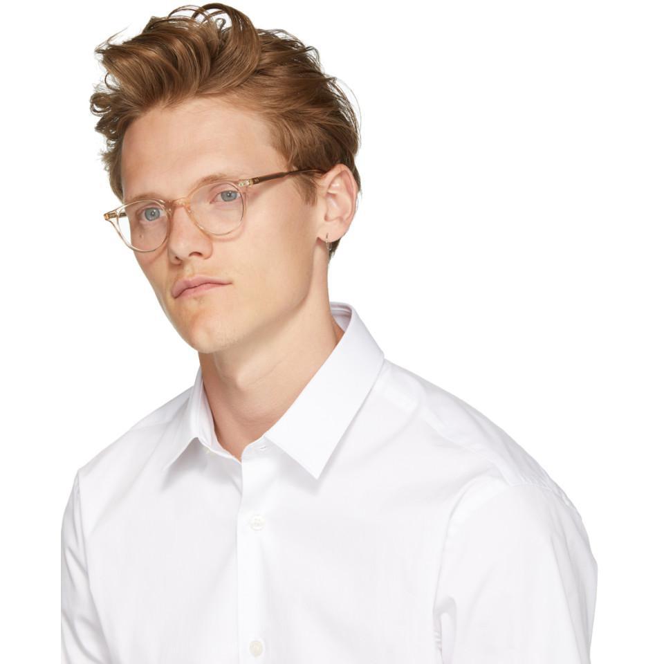 85c1f68209152 Garrett Leight Beige Clune Glasses in Natural for Men - Lyst