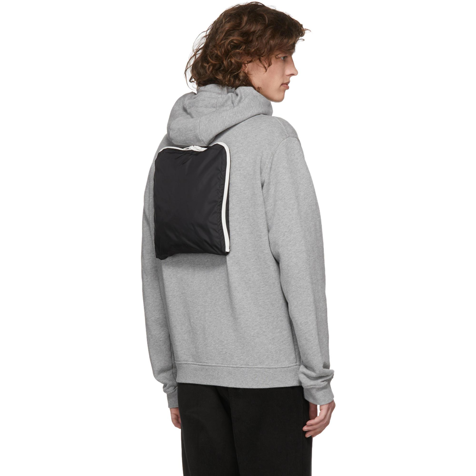 Maison Margiela Synthetic Black And Grey Hybrid Hoodie Jacket for Men