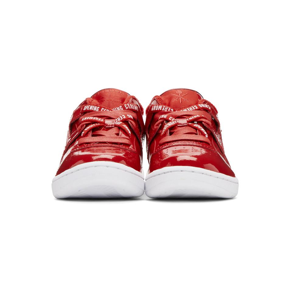 Ann Demeulemeester Red Reebok Edition Workout Lo Sneakers na0Ek8GQg