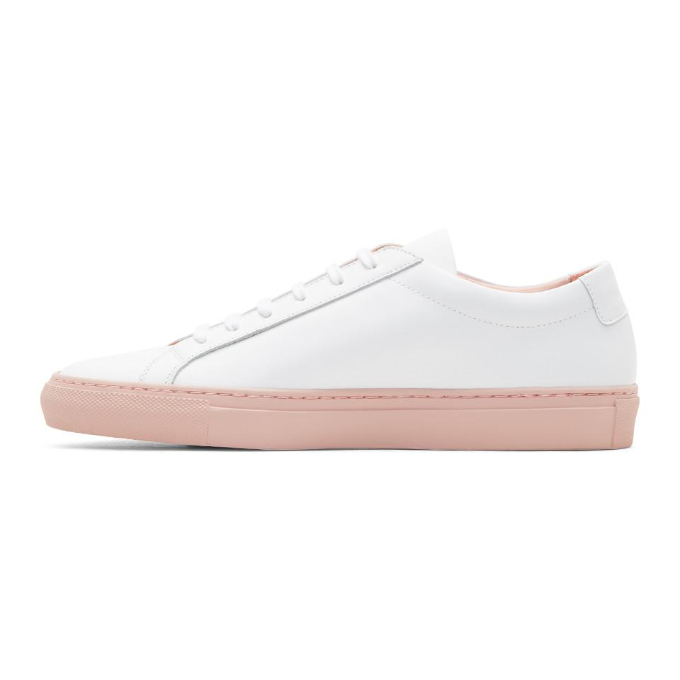 Pink Achilles Low Colored Sole Sneakers