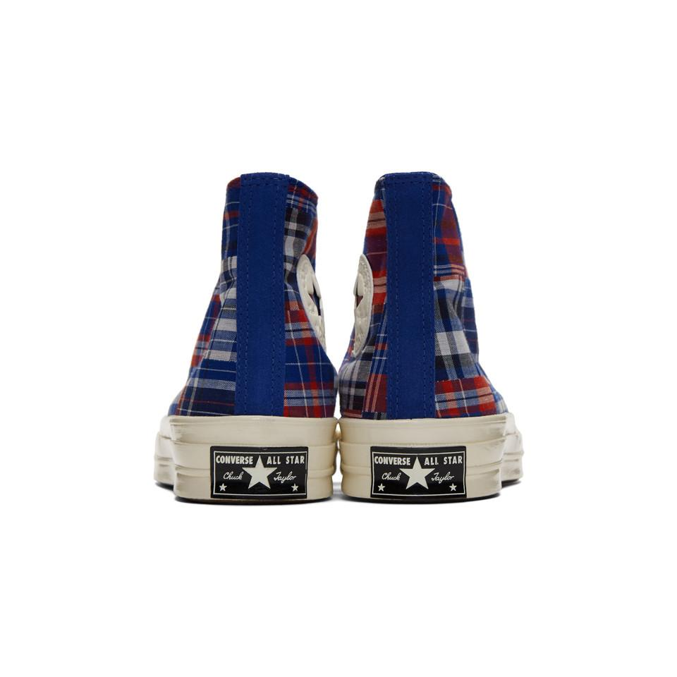 Converse Suede Blue And Red Twisted Prep Chuck 70 High Sneakers ...