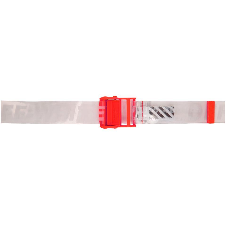 Lyst - Ceinture orange et transparente Industrial Off-White c o ... 94bf380262d
