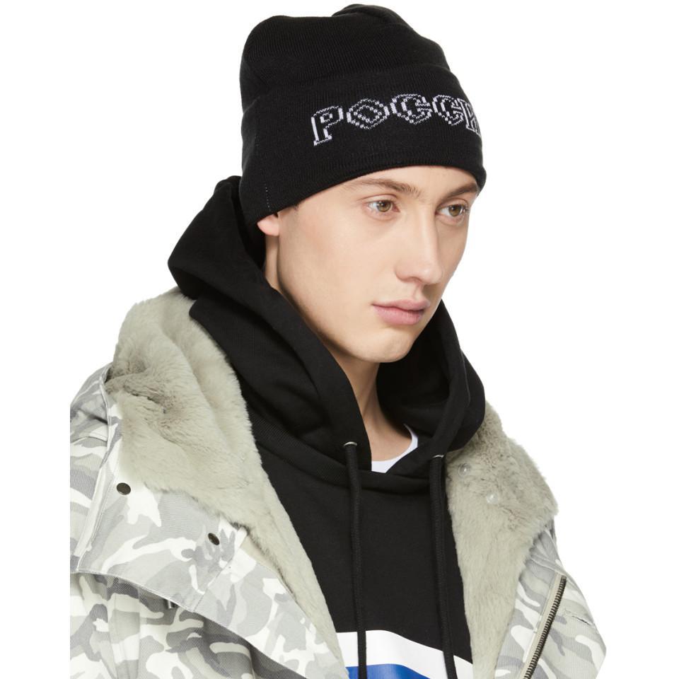 0333b5d222a16 Gosha Rubchinskiy Black Adidas Originals Edition Knit Beanie in ...