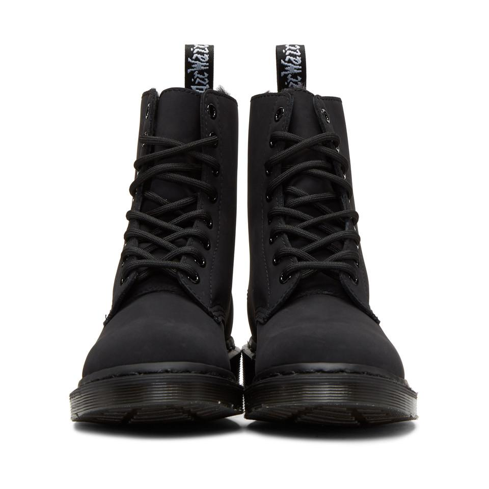 3c2a703213d8 Lyst - Dr. Martens Fur-lined Mono Boots in Black