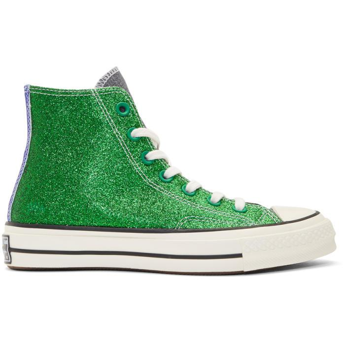 de09ad587b3 Lyst - JW Anderson Green And Black Converse Edition Chuck Taylor All ...