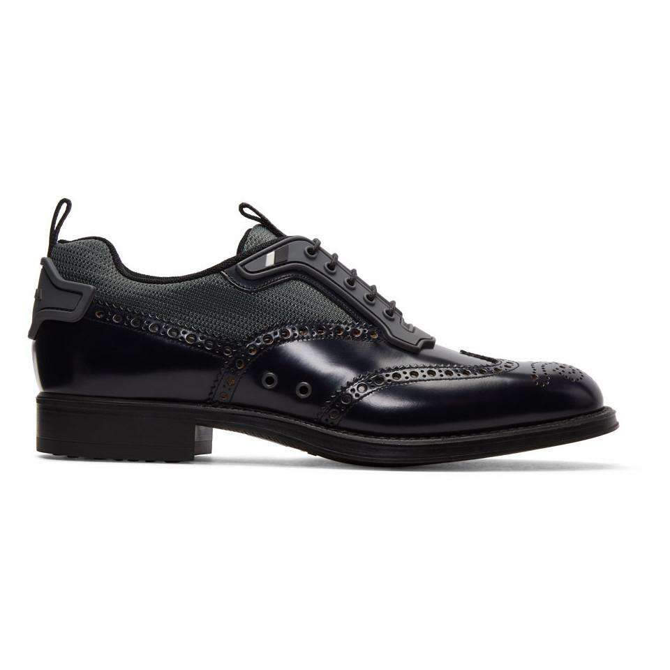 Prada Leather & Nylon Brogues LRK2vVd