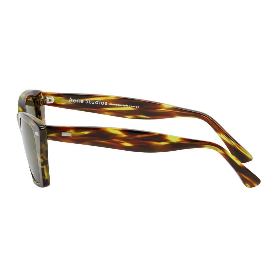 Acne Studios Tortoiseshell Ingridh Cat Eye Sunglasses in Brown