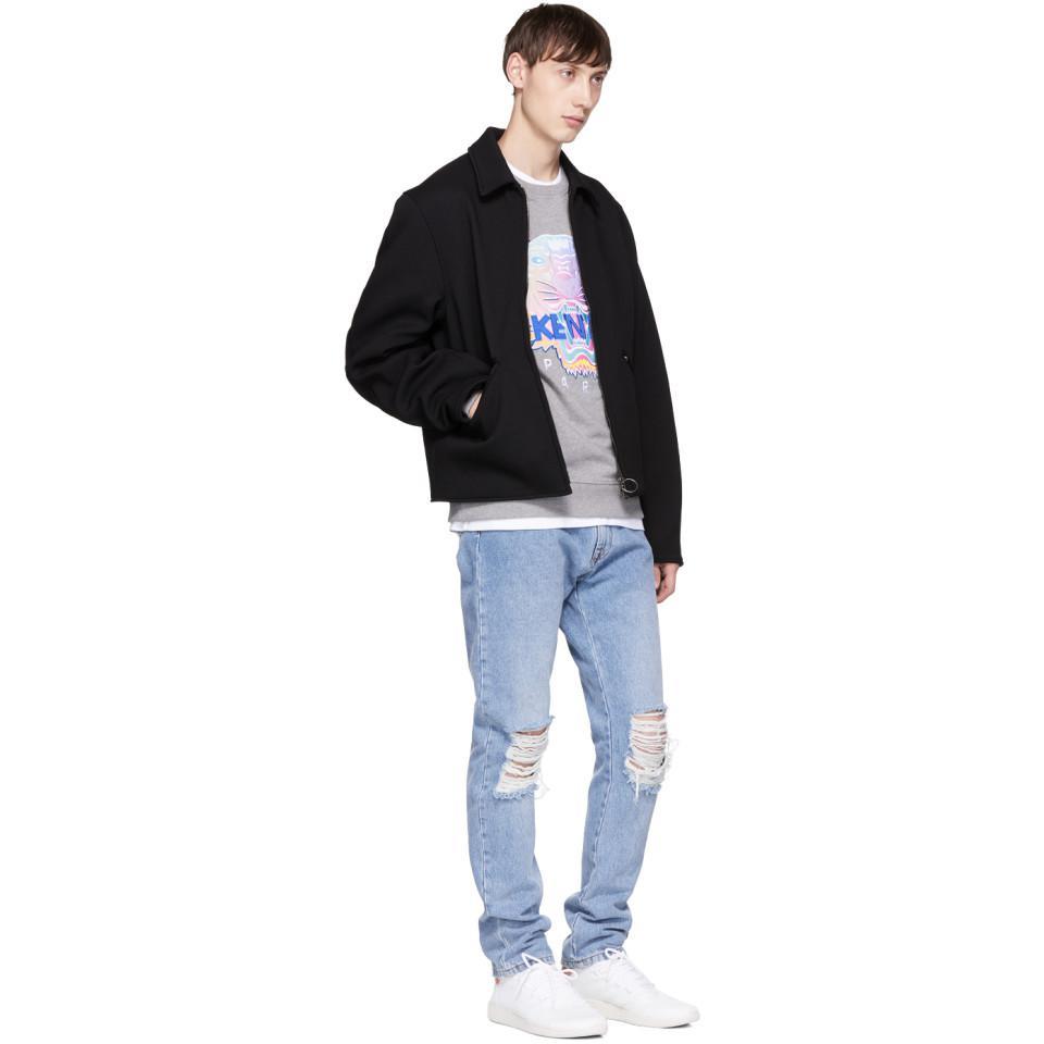 KENZO Cotton Grey Limited Edition Tiger Sweatshirt in Grey for Men