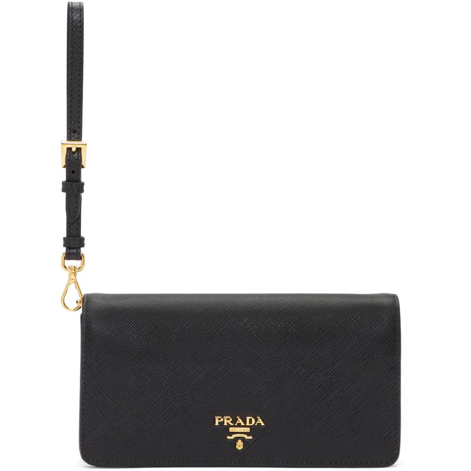 on sale 1d6b6 1b7be Prada Black Smartphone Case Bag