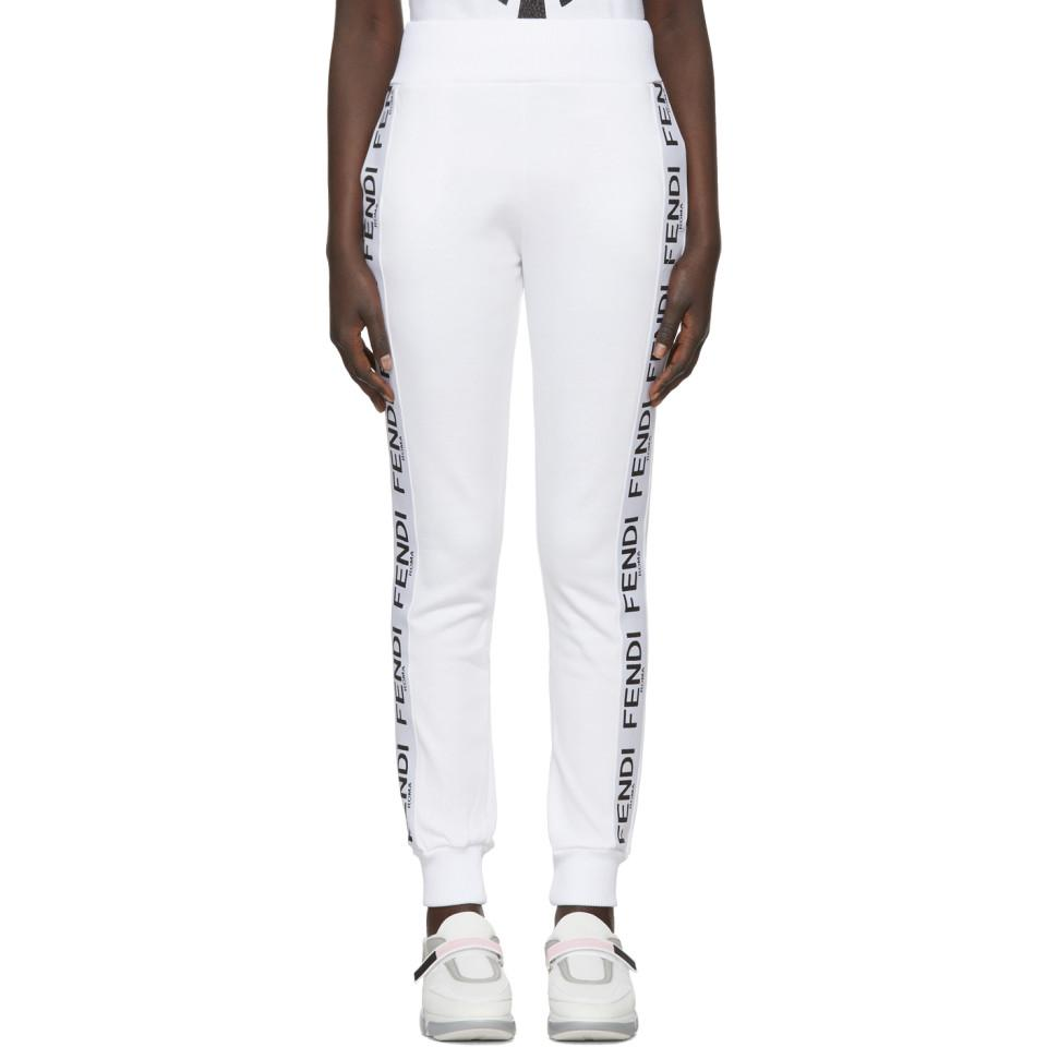 Coloris Survetement En Fendi De Pantalon Blanc Band Lyst Roma O84Ew0q c73243093f7