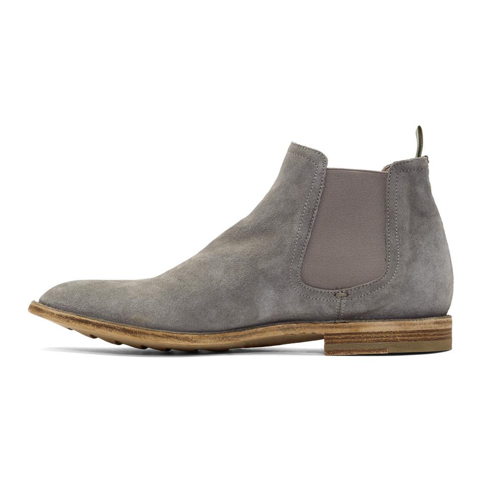 Officine creative Grey Standard 8 Chelsea Boots