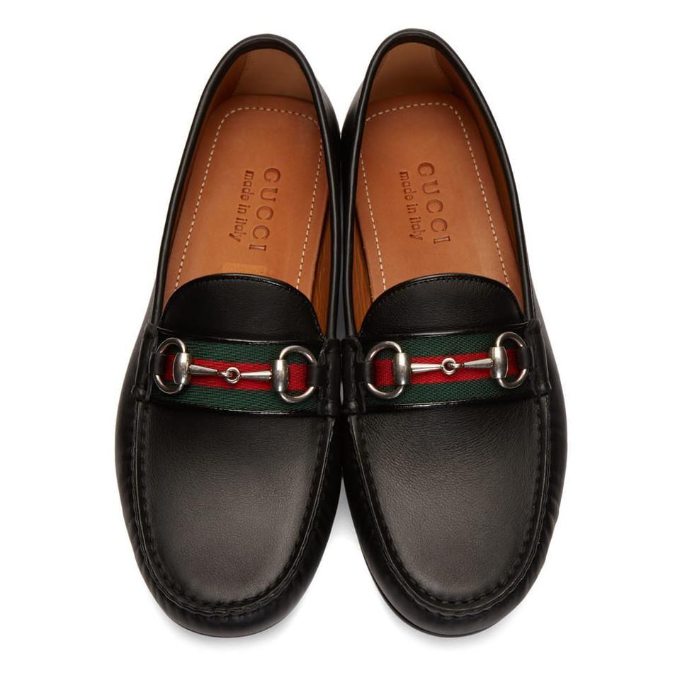 Gucci Horsebit Driver Shoes in Black for Men - Lyst