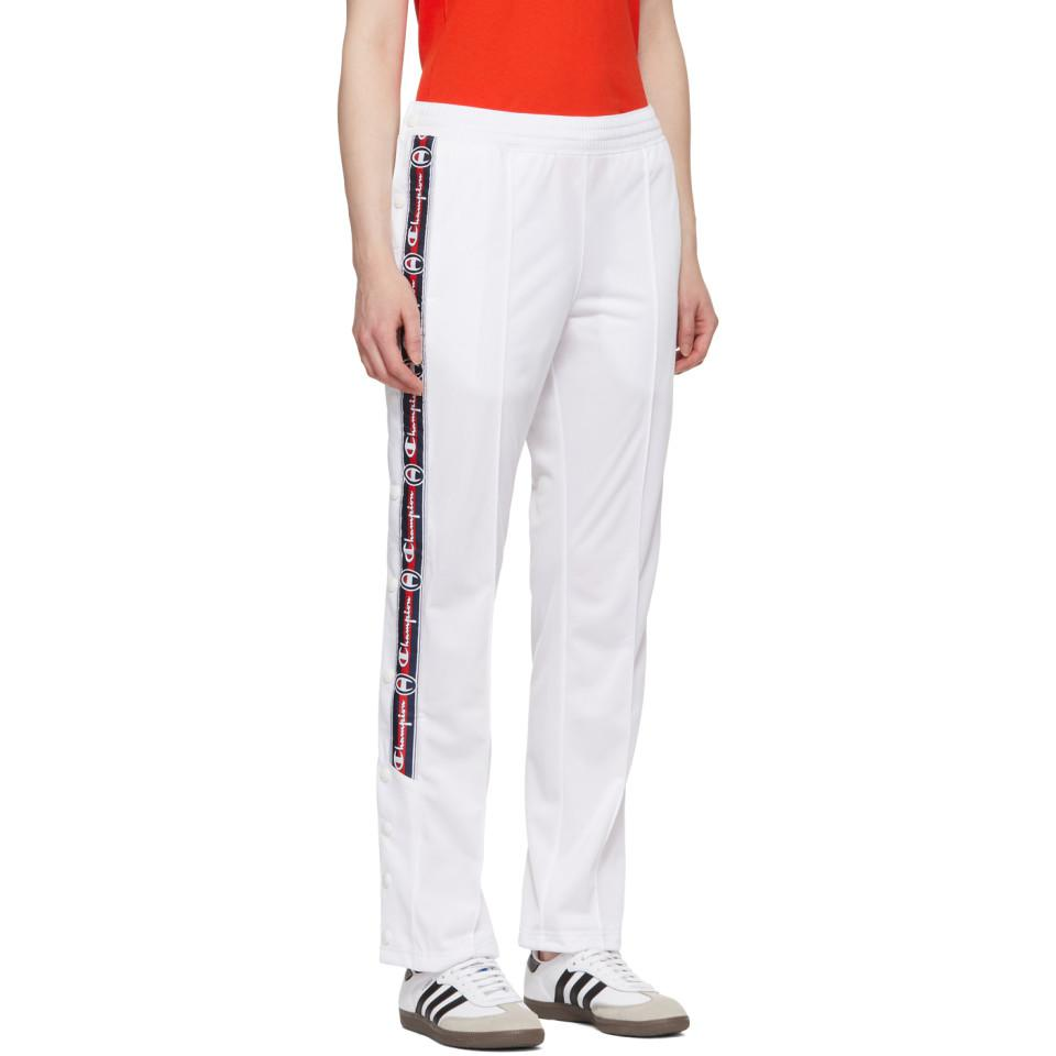 971c609e Champion White Tear Away Track Pants in White - Lyst