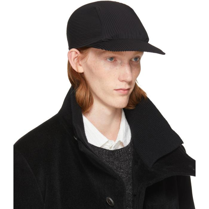 Black Pleated Cap Homme Pliss ylUK60QEs