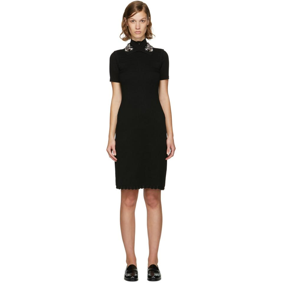 Offer View Cheap Price Black Jewelled Collar Dress Carven Buy Cheap Fashionable X1UYfGz4