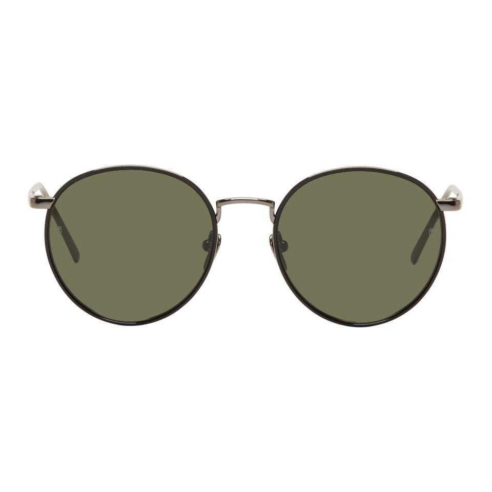 1fd9d26041 Linda Farrow Gunmetal 704 C6 Sunglasses for Men - Lyst