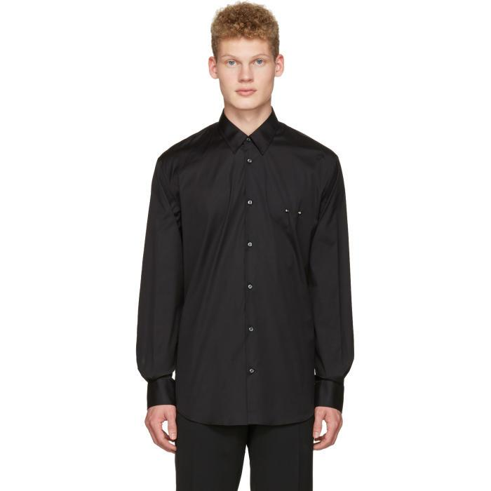 Lyst dsquared black nipple piercing shirt in black for men for Nipple piercing through shirt