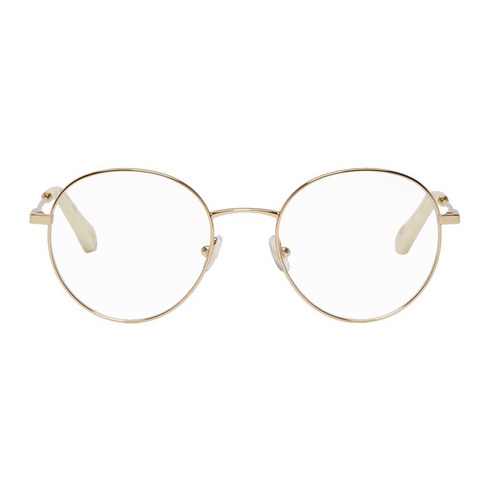 44310cf725b Chloé Gold Palma Glasses in Metallic - Save 43% - Lyst