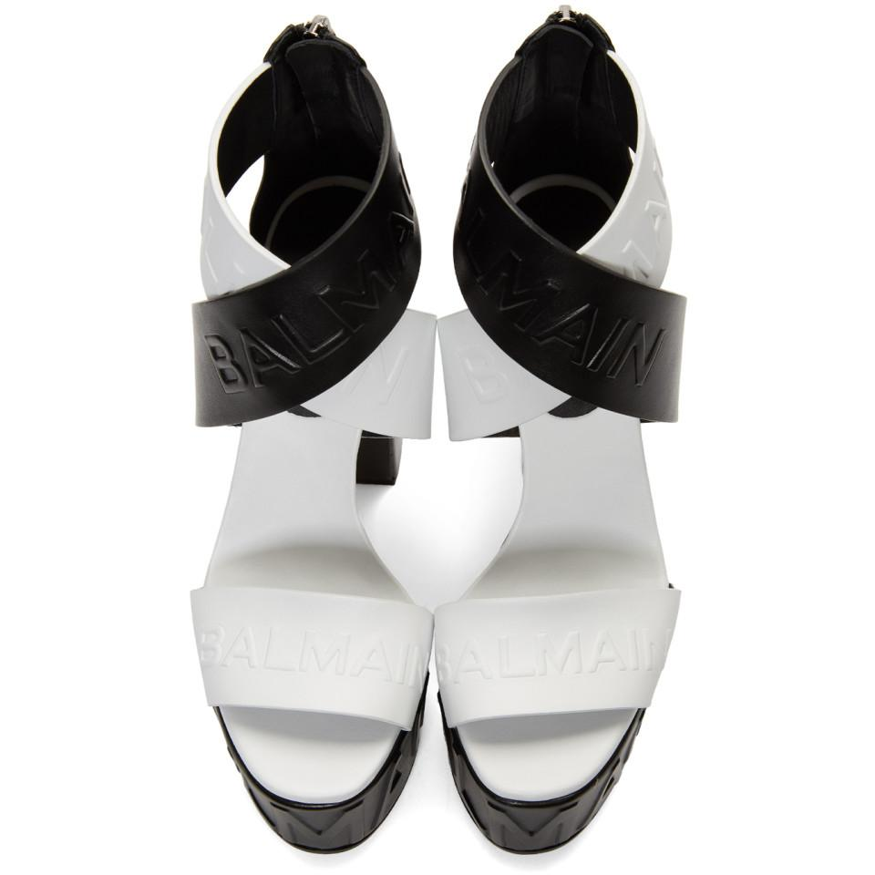 White and Black Cloud Crossover Heels Balmain 9g4Jd5tN8
