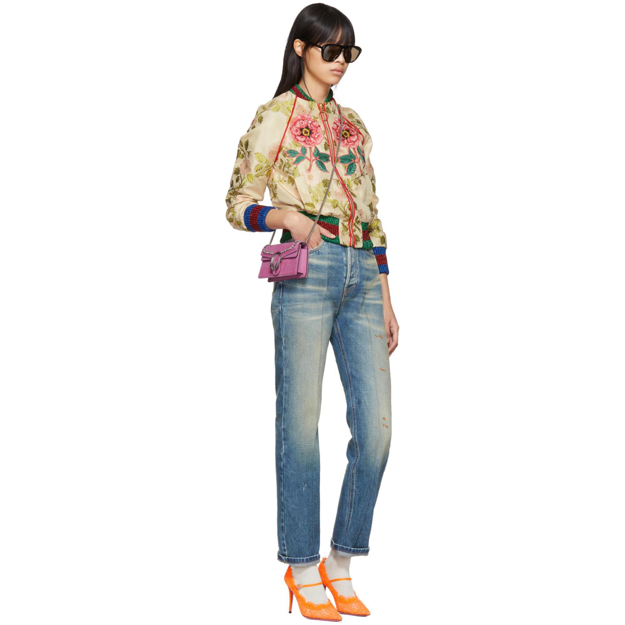 2e36cb90d3c Lyst - Gucci Pink Velvet Super Mini Dionysus Bag in Pink
