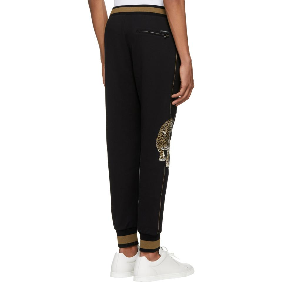 Sale Brand New Unisex Black and Brown Embroidered Lounge Pants Dolce & Gabbana Cheap Pay With Paypal Really Cheap Price Outlet Shopping Online Manchester Cheap Online pYVszTz