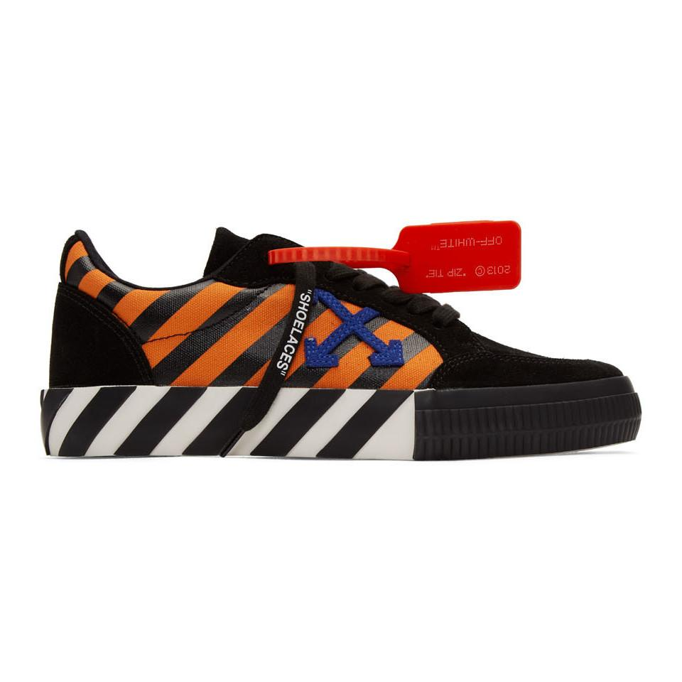 And Orange Diag Low Vulcanized Sneakers