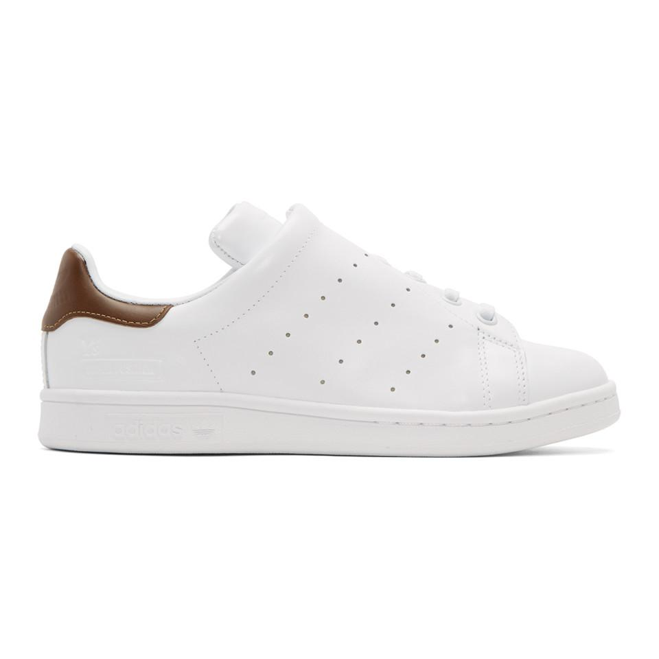 White adidas Originals Edition Diagonal Stan Smith Sneakers Yohji Yamamoto Low Cost Release Dates Authentic Buy Online Cheap dxHuHPoH